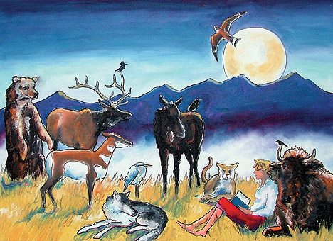 ¨Discover your wild side at the library¨ by Jennifer Lowe-Anker. Prints available for purchase at the Bozeman, MT Publc Library.